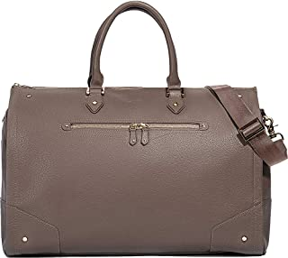 Hook & Albert Women's Garment Weekender (Taupe/Gold)