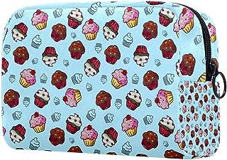 Cupcake Makeup Bag Toiletry Bag for Women Skincare Cosmetic Handy Pouch Zipper Handbag