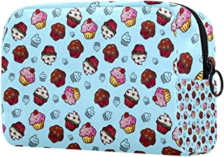 Cupcake Makeup Bag Toiletry Bag for Women Skincare Cosmetic Handy Pouch Zipper Handbag