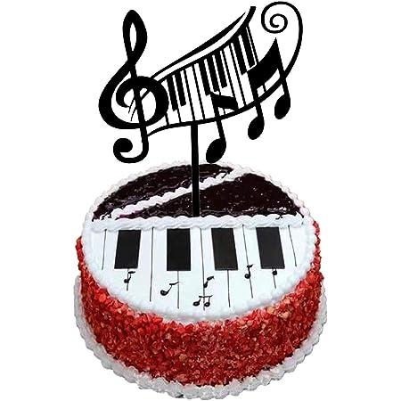 Musical Notes Birthday ~ Edible 2D Fondant Cake 3 Strip Side Topper ~ D5770 *