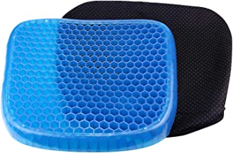 Lifestyle-You® Gel Seat Cushion Seat Cushion with Non-Slip Cover Breathable Honeycomb Design Absorbs Pressure Points