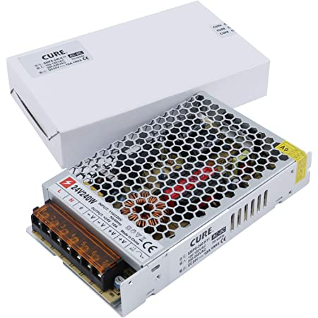 CURE(キュア) 安定化電源 スイッチング電源 AC DC コンバーター 24V 10A 240W 超薄型 直流電源変換器 過負荷保護 自動冷却 日本語説明書付 安全保護回路 自動リセット可能 電源装置