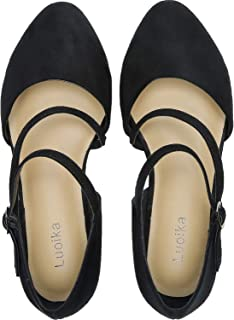 Women's Wide Width Flat Sandals - Double Straps Pointy Toe Comfortable Summer Shoes.