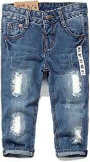 Baby & Toddler Ripped Holes Slim Soft Jeans