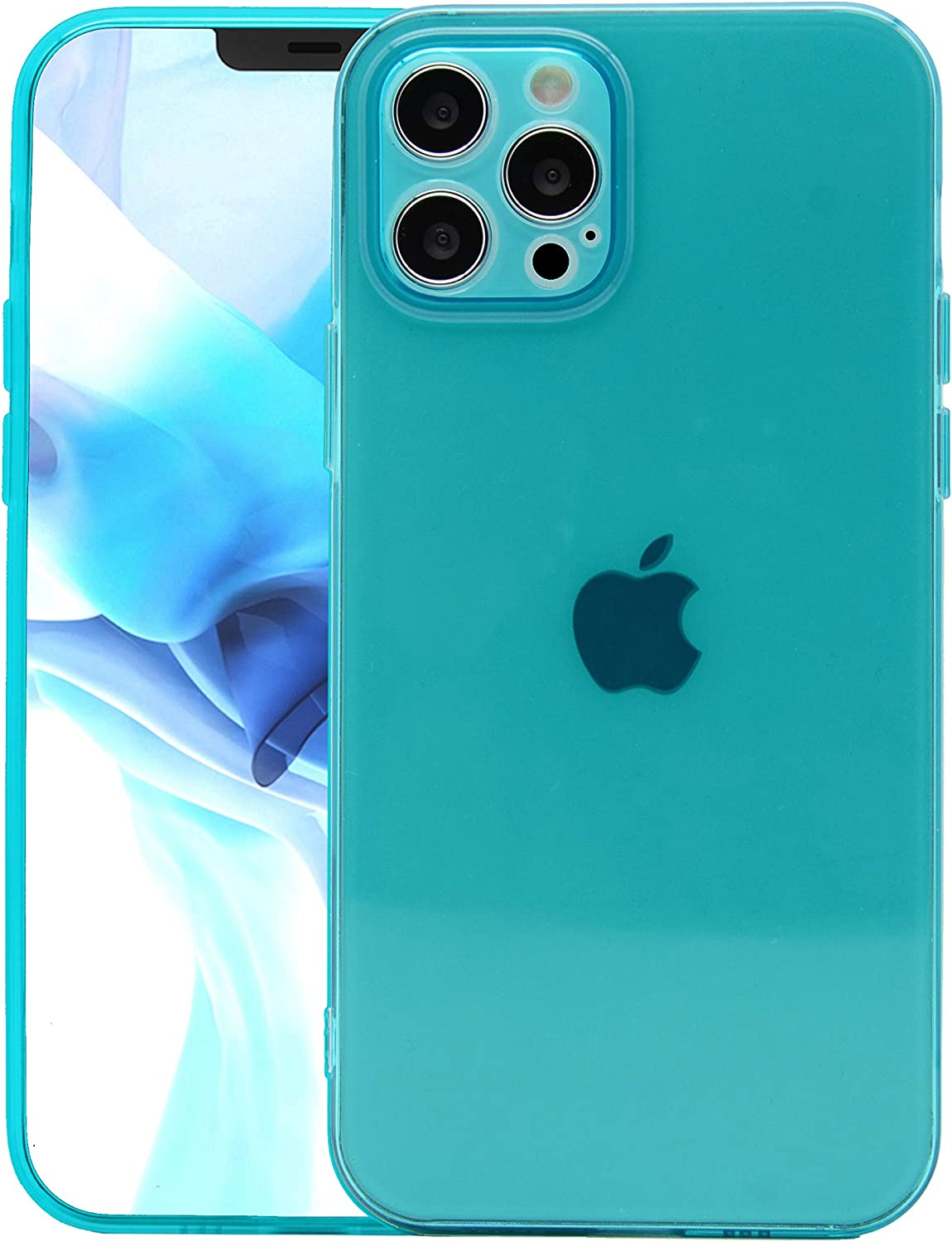 GRECAZO Clear Neon Designed Phone Case for iPhone 12 Pro(2020) 6.1
