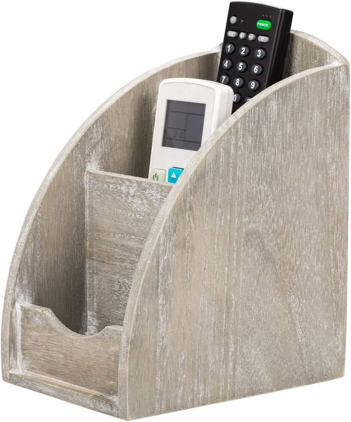 NEX Remote Control Max 84% OFF Holder 3 Slot Caddy Me Limited price Wooden