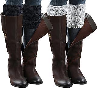 Chalier, 2 Pares de Mujeres de Invierno Calentadores de piernas Calientes Botas Cortas Calcetines