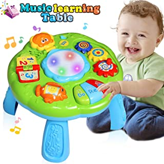 HOMOFY Baby Toys Musical Learning Table 6 Months Up- Early Education Activity Center Multiple Modes Game Kids Toddler Boys & Girls Toys for 1 2 3 Years Old