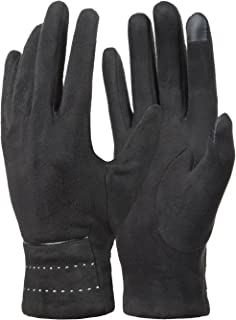 Womens Winter Warm Touchscreen Gloves Fleece Lined Cold Weather Thick Gloves by REDESS