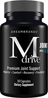 Mdrive Joint Pain Relief Dietary Supplements, Has Collagen, Hyaluronic Acid (Sodium), Turmeric Curcumin Extract, Bromelain, Boswellia, and UC-II, Gelatin Pills for Men & Women - DreamBrands (30 Caps)