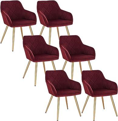 EUGAD Pack de 6 Sillas de Comedor Vintage Diseño Sillas Nórdicas ...