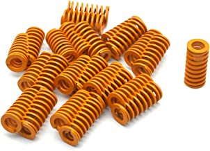 Antrader 24-Pack Yellow Od 10mm Id 6mm Light Load Spiral Stamping Compression Die Spring Length 20mm