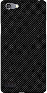 Oppo Neo 7 Case, Premium Handcrafted Designer Hard Shell Snap On Case Shockproof Printed Back Cover for Oppo Neo 7 - Carbon Black with Texture