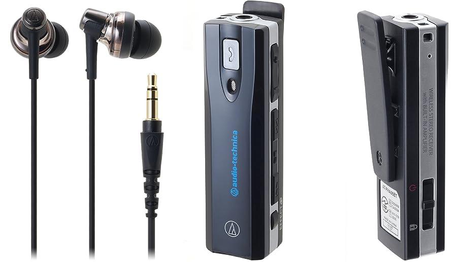 郵便屋さん投げるブラザーaudio-technica Sound Phone カナル型イヤホン ヘッドホンアンプ内蔵 ワイヤレス ブラック ATH-BT05 BK