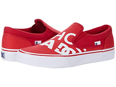 DC Trase Slip-On SP (Red/Red/White) Skate Shoes