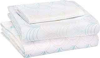 AmazonBasics Juego de sábanas, microfibra suave y fácil de lavar, infantil, individual, vieira multicolor