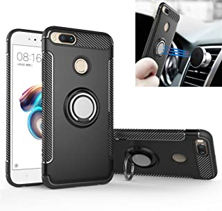 Xiaomi Mi A1 / 5X Case, Rotating Ring Mingwei [ 360 ° Kickstand] Carbon Fiber [Dual Shockproof] Protection Cover Compatibl...