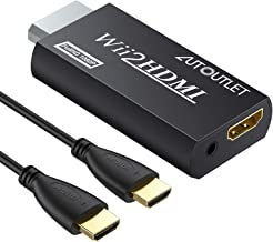 AUTOUTLET Wii to HDMI Converter WII2HDMI Wii Signal to HDMI Support 720P 1080P 3.5MM Audio HD Video Output Adapter with 1M HDMI Cable for Nintendo Wii