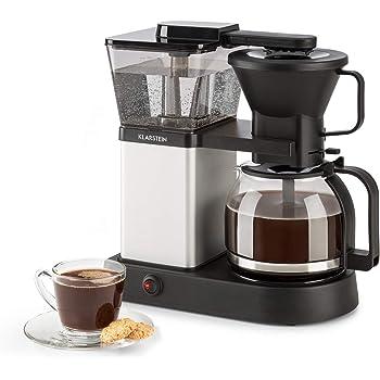 Klarstein GrandeGusto Máquina de café con jarra - Máquina de café con filtro, Cafetera, 1690 W, Depósito de 1,3 litros, Hasta 10 tazas, Calienta hasta 96°C, Conserva el calor, Negro plateado: Amazon.es: Hogar