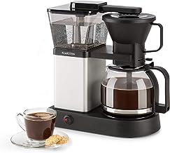 Klarstein GrandeGusto Máquina de café con jarra - Máquina de café con filtro , Cafetera , 1690 W , Depósito de 1,3 litros , Hasta 10 tazas , Calienta hasta 96°C , Conserva el calor , Negro plateado