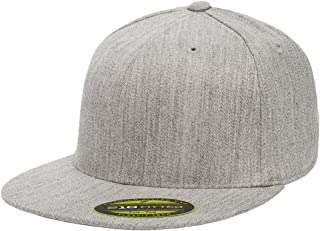 Premium 210 Fitted Flat Brim Baseball Hat w/THP No Sweat Headliner Bundle Pack