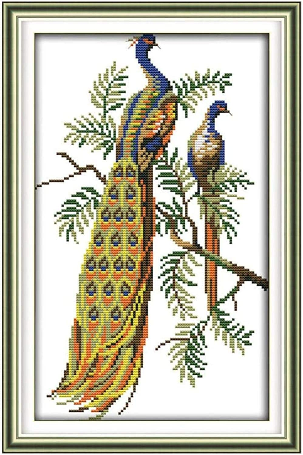 Max 75% OFF ZSZXMZ Max 53% OFF Stamped Cross Stitch Kit Embroidery Peaco Kits Crafts DIY