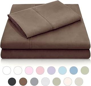 MALOUF Double Brushed Microfiber Super Soft Luxury Bed Sheet Set - Wrinkle Resistant - Split King Size - Chocolate