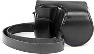 MegaGear Ever Ready Funda Protectora de Cuero Negro de la CámaraBolsa para Sony NEX-3N con Sony SELP1650 Sony A5000 Sony A5100 16-50mm Lente
