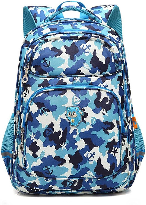 LBYMYB Schultasche, Schulranzen Der Grundschulkinder, Outdoor-Reiserucksack Kinderrucksack (Farbe   Tarnung)