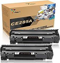 7Magic CE285A 85A Compatible con HP 85A CE285A Cartucho de Tóner Compatible con HP Laserjet Pro P1102w P1102 1102 M1212 M1132 mfp M1210 M1212nf (2 Negro)