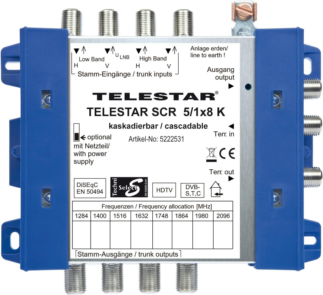 Telestar Scr 5 1x8 K Einkabellösung Inklusive 4 Elektronik