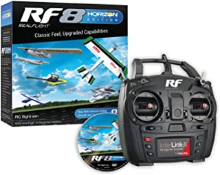 RealFlight 8 Horizon Hobby Edition: RF8 HH RC Flight Simulator Software with Interlink X Controller, RFL1000