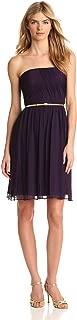 Women's Strapless Belted Chiffon Dress