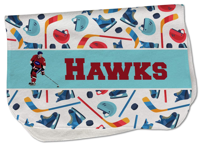 Hockey 2 Burp Cloth - Fleece or w Name Max 41% Seasonal Wrap Introduction OFF Text