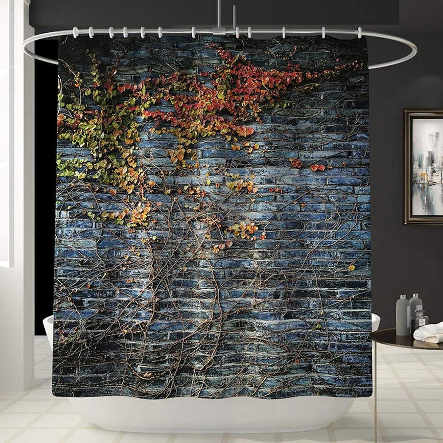 スクリューベギン大破壁パターン楽しいシャワーカーテン風呂アカウントバスルーム防水カーテンバスタブは衰退しません汎用性の高い快適なシャワーカーテン180センチ* 180センチ洗濯機 フェンコー