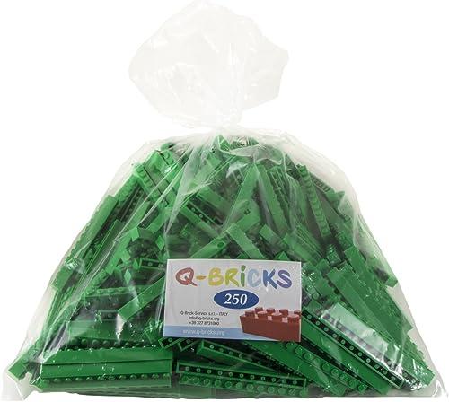 Q-Bricks QB1 12–180-bg250 x 12 ppen Bausteine in lose Pack, Grün, 250
