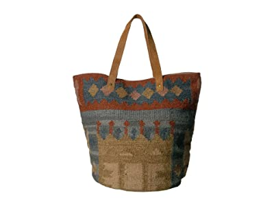 Scully Bia Woven Tote (Multi Greens/Browns/Tan) Handbags