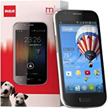 RCA M1 Unlocked Cell Phone, Dual Sim, 5Mp Camera, Android 4.4, 1.3Ghz (Black)