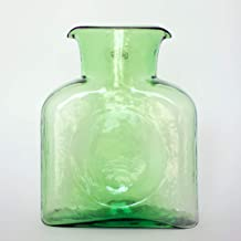 Authentic Blenko Glass Water Bottle (Carafe) 8 inch 36 oz- Spring Green