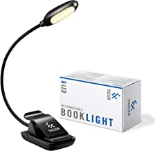 TAZLER 6 Warm LED Book Light Rechargeable Reading Light 3-Level Brightness and Eye Care Clip Lamp up to 60 Hours Perfect f...
