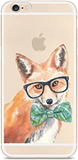 AIsoar iPhone 6 Plus 6s Plus Case, Crystal Clear Slim Soft TPU Protective Cover Non Slip Flexible Shockproof Bumper Cute Animal Cover Protection for Apple iPhone 6 Plus/6s Plus 5.5'' (Fox)