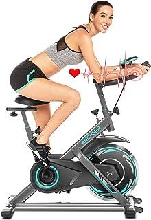 comprar comparacion ANCHEER Bicicleta de Spinning Bicicleta Indoor de Volante de Inercia de 22kg/18kg Bicicletas deCiclo con Conecto con App ...