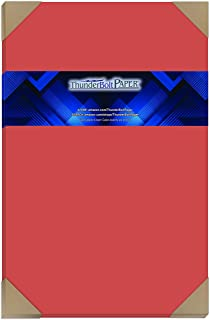 """$60 » 100 Bright Apple Red Color 65lb Cover
