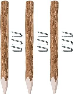 Rundkopf 9x9x80cm /· Vierkant Zaunpf/ähle in 18 Gr/ö/ßen aus Kiefer mit rundem Kopf Impr/ägnierte Holzpfosten KDI