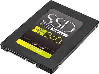 グリーンハウス SSD 240GB 内蔵2.5インチ シリアルATA-III (6Gb/s)対応高速モデル 3年保証 GH-SSDR2SA240