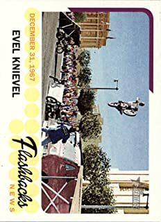 2016 Topps Heritages Flashbacks #NFEK Evel Knievel Baseball Card