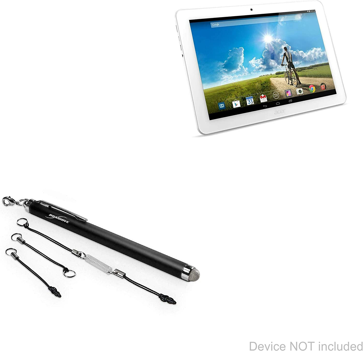 Stylus Pen for Acer Iconia Tab 10 A3-A20 (Stylus Pen by BoxWave) - EverTouch Capacitive Stylus, Fiber Tip Capacitive Stylus Pen for Acer Iconia Tab 10 A3-A20 - Jet Black