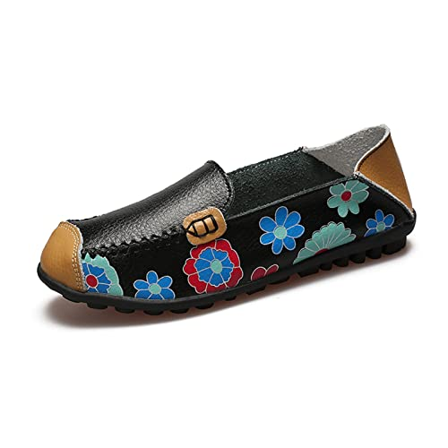 VenusCelia Womens Floral Comfort Walking Flat Loafer