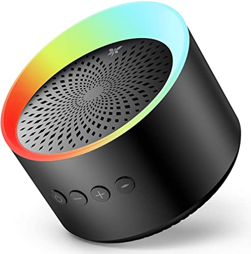Bluetooth Speaker with Colorful Lights, Axloie Speakers Bluetooth Wireless with Deep Bass and Stereo Sound, 12 Hours ...