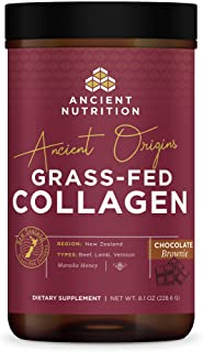Ancient Origins, Grass Fed Collagen, Chocolate Brownie, Formulated by Dr. Josh Axe, Sustainably sourced Non-GMO Collagen P...